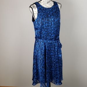 {Banana Republic} NWOT blue leopard print 👗 dress